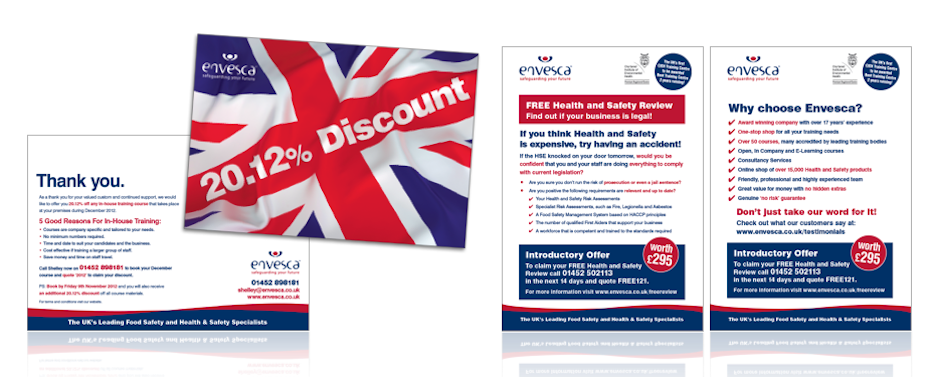 Direct Mail Postcard and Flyer for Envesca