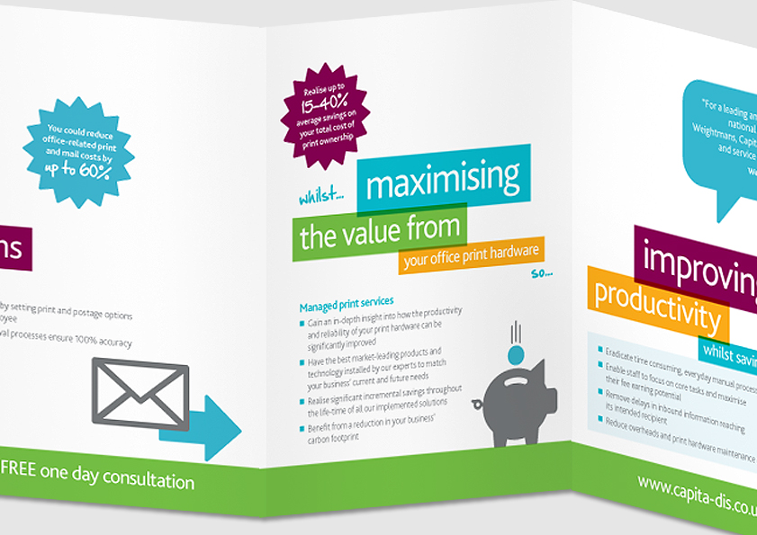 Direct Mail Campaign for Capita Document and Information Services