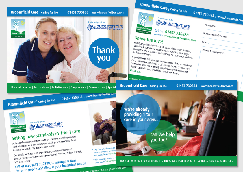 Direct Mail Postcards for Broomfield Care