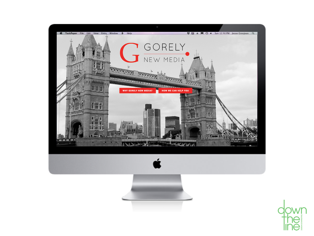 Down The Line Design - Website Design for Gorely New Media 1