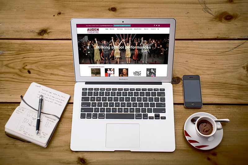 Auden Theatre Greshams School website design Gloucestershire