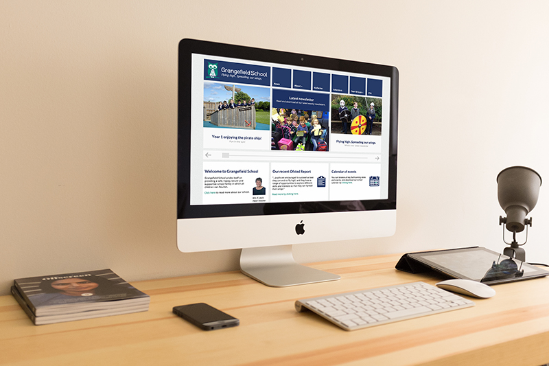 Grangefield School website design Gloucestershire