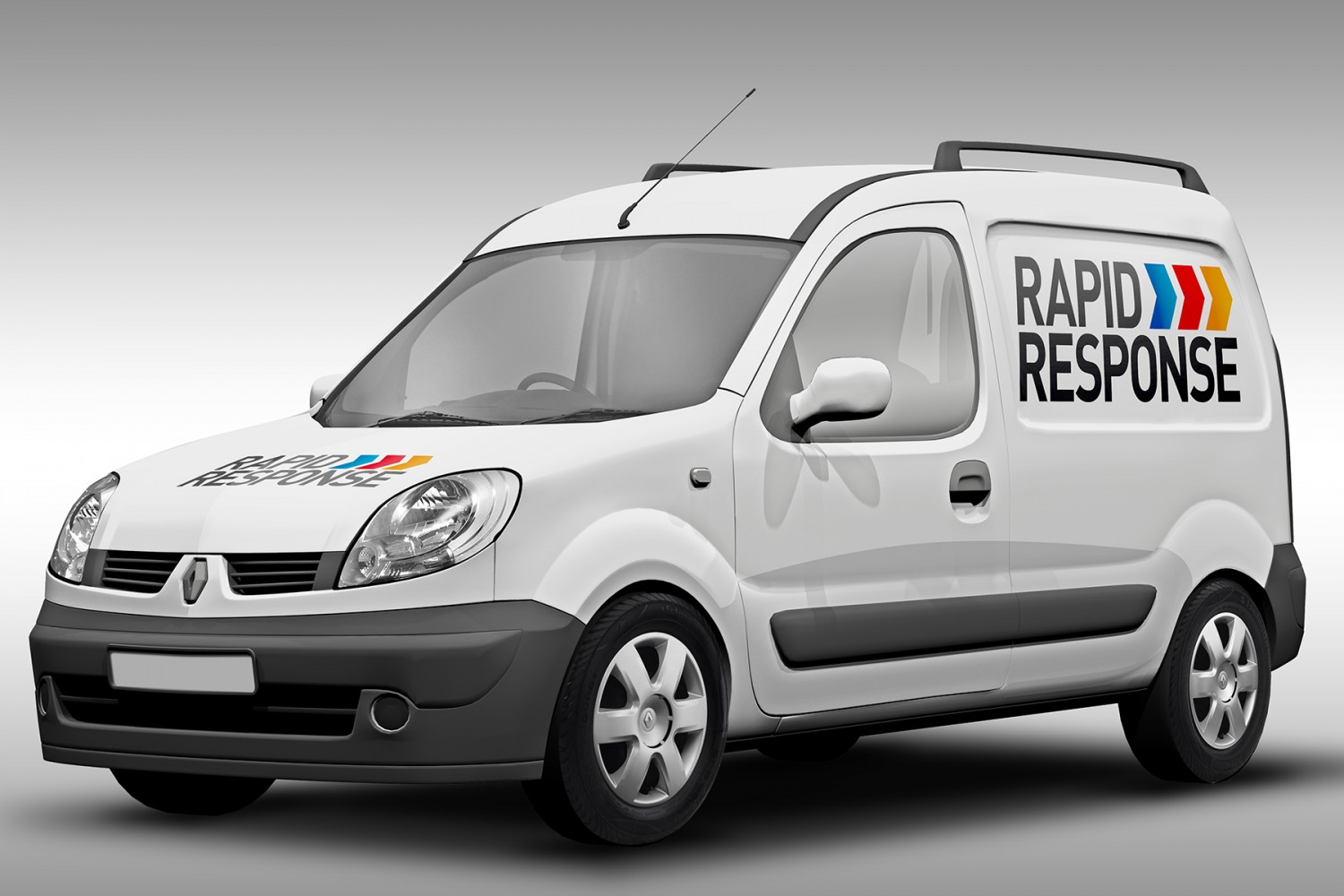 Logo design on side of van for Rapid Response