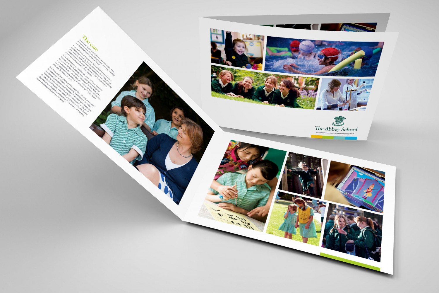 School prospectus design for The Abbey School Reading